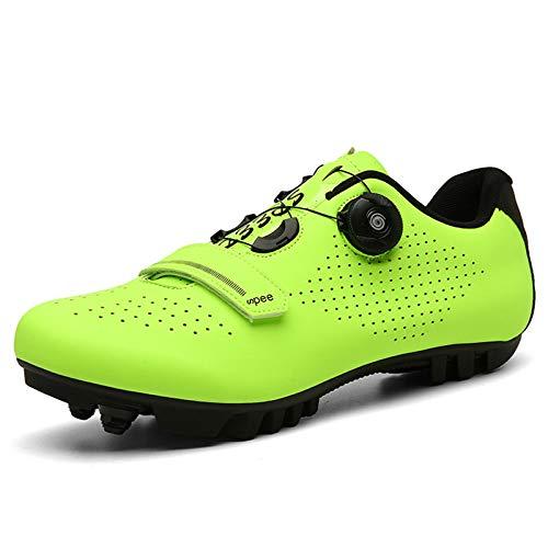 BHC MTB Zapatillas de Ciclismo Parte Superior Colorida y Luminosa con Tacos,...