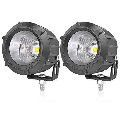 LED Pods, AKD Part 3.5 inch 50W LED Driving Lights Motorcycle Off Road Work Lights Round LED Combo Lights Motor LED Pods Lights Fog Lamp for Off Road Vehicle
