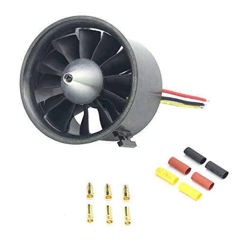 QX-Motor QF2827 70mm 12 Blades EDF Ducted Fan 6S Motor 1800KVBrushless Motor for Jet AirPlane