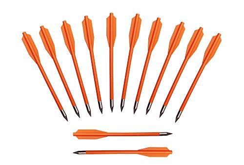 ETU24® Sehne Ersatzsehne 80 lbs 150 lbs 175 lbs für Armbrust mit Endkappen Armbrustsehne Direktversand aus Deutschland (12er Packung Premium Pfeile für Armbrustpistole Orange)