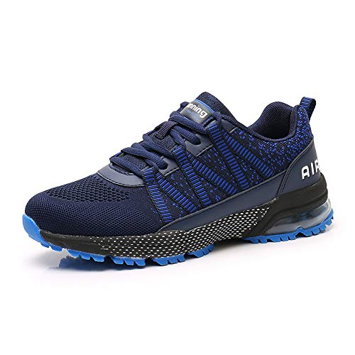 Sumateng Scarpe da Corsa Uomo Donna Scarpe da Ginnastica Sportive Walking Jogging Athletic Fitness Outdoor Sneakers DarkBlue44