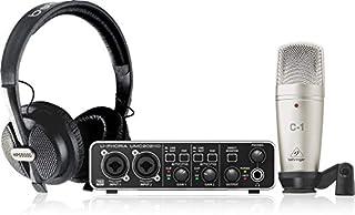 حزمة تسجيل كاملة U-PHORIA STUDIO PRO مع واجهة صوت USB عالية الوضوح وميكروفون مكثف وسماعات ستوديو