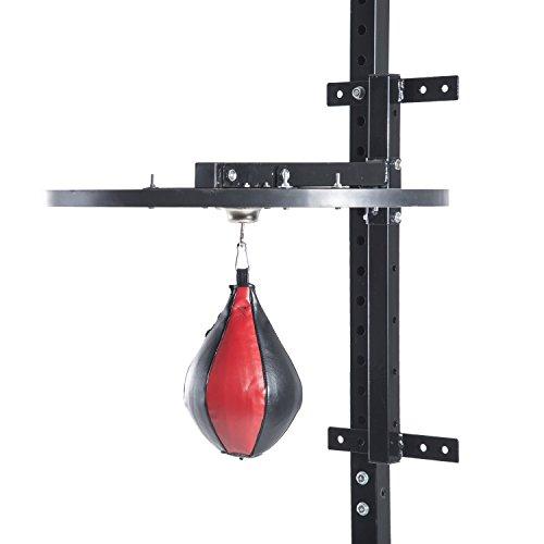 homcom Piattaforma Boxe con Speedball Φ21 cm, Punching Ball per Allenamento Pugilato Arti Marziali,...