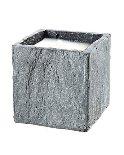 Der Perlenspieler® -Mini-Kerzenschmelzer-Würfel Typ Granit- in Used-Optik-Besonders schwere Ausführung-In- und Outdoor-ca.10 cm x 10 cm