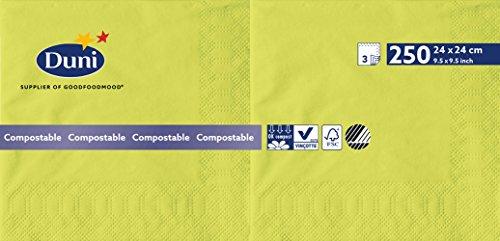 Duni 168398 3 plis Serviettes en papier, 24 cm x 24 cm, kiwi (lot de 2000)