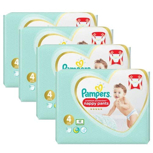 Couches Pampers - Taille 4 premium protection pants - 228 couches bébé