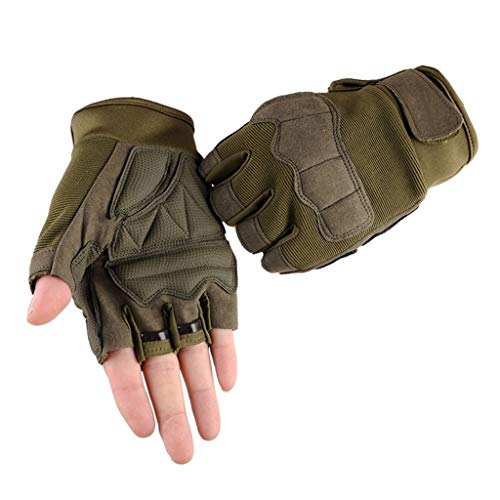 QIMANZI Outdoor Handschuhe Herren Taktische Trainings Motorradhandschuhe Kletterhandschuhe Vollfinger Fingerlose Gloves Wander Klettern Motorrad Fahrrad Radsport Arbeiten(E)