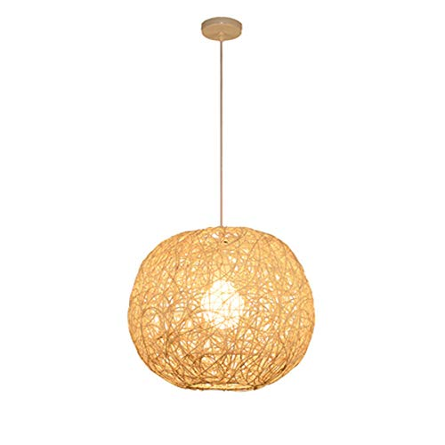 MOGCA Sudeste asiático creativo personalidad ratán lámpara pendiente lámpara pelota lámpara de techo japonés droplight garden restaurante restaurante granja casa de campo rattan candelabros