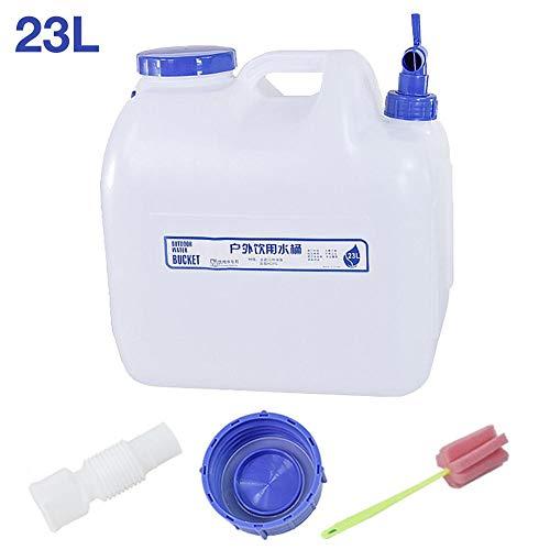 N/T 23L - Bidón de agua portátil para coche, con grifo, reutilizable, para camping, picnic, exteriores, barbacoa, viajes largos