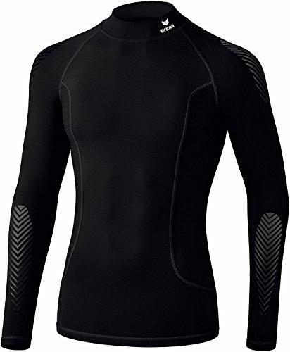 Erima - Longsleeve de Base avec Col Montant sous-Vêtements Fonctionnels - Mixte Adulte - Noir - FR: L (Taille Fabricant: L)