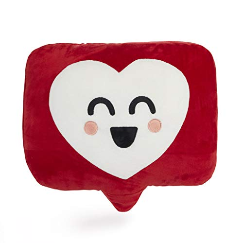 Balvi Cojín Mr Wonderful Like Color Rojo Cojín Mr Wonderful Original y Extra Suave con diseño corazón Like Redes sociales Cojín Original y Divertido Poliéster 39x30 cm
