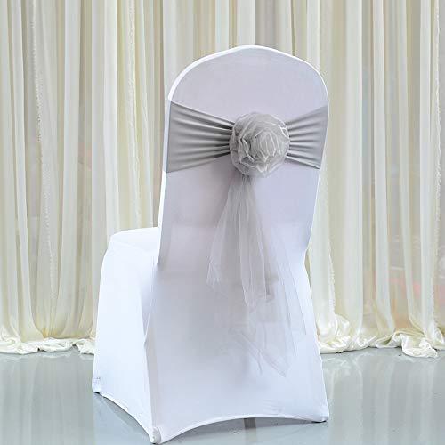 tggh 10 cinturones para sillas de boda, diseño de nudo de boda, decoración de lazo, color morado