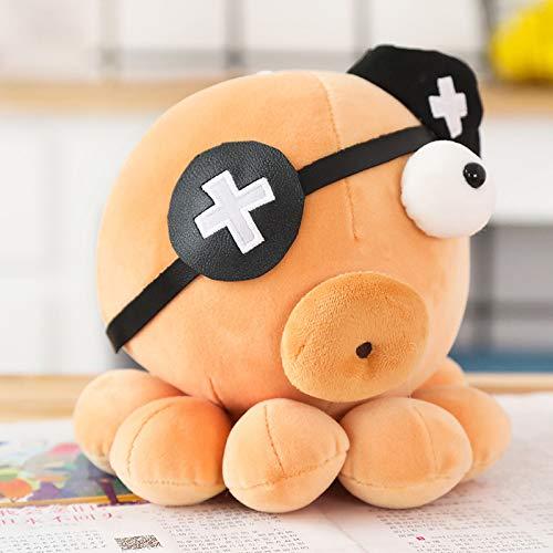Mooie Cosplay Octopus Knuffels, Gevulde Octopus Poppen, Kinderen Kinderen Baby Verjaardag Valentijnsdag Presenteert 25Cm (Bruin)