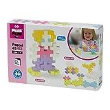 Plus-Plus BIG - 45 Piece - Pastel Color Mix, Construction Building Stem | Steam Toy, Interlocking Large Puzzle Blocks for Toddlers and Preschool