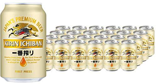 KIRIN ICHIBAN japanisches Premium-Bierpaket (helles Malzbier, nach dem First Press Verfahren gebraut, Dosenbier mit 5 % Alkoholgehalt, Einweg Palette) (24 x 0,33 l)