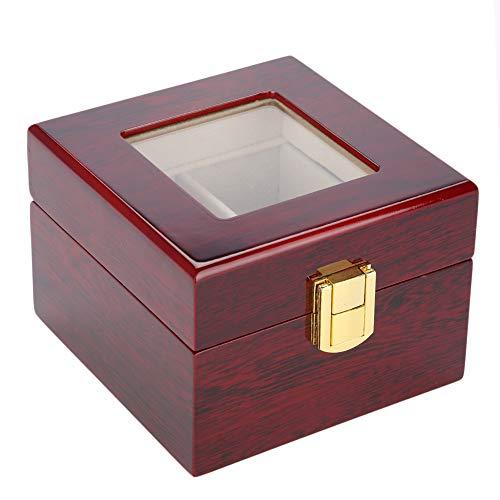 Boîte de montre en bois de vitrine de montre-bracelet durable avec le vernis de cuisson