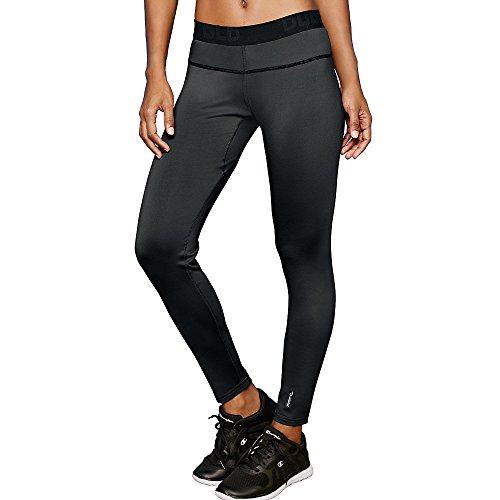 Duofold Women's Mid Weight Fleece Lined Thermal Legging, Black, Medium