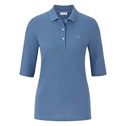 Lacoste Damen Polo Shirt Kurzarm PF5381,Frauen Polo-Hemd,3 Knopf,Regular Fit,King(PQ8),36 EU