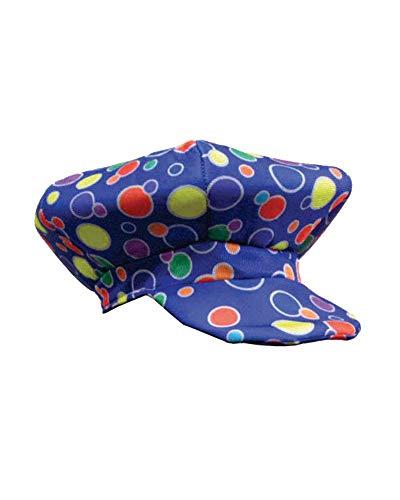 Dress Up America Casquette de clown bleu à pois,Taille unique,Multicolore