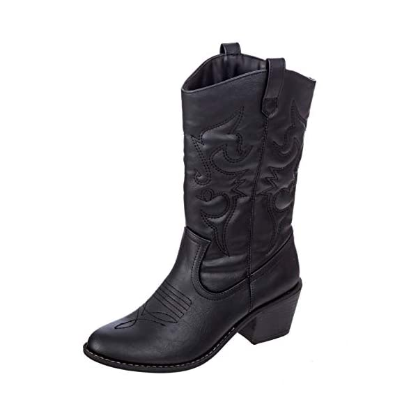 Charles Albert Women's Embroidered Modern Western Cowboy Boot