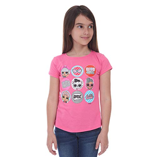 LOL Surprise LOL Suprise Girls Squad Goals Dolls Multi Design Tees (6/6x, Pink)