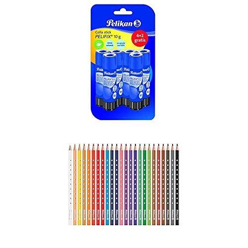 Pelikan Barra de pegamento + Lápices de colores