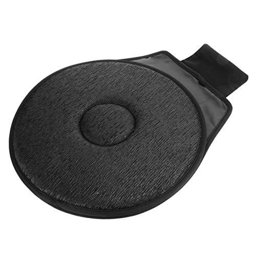VOSAREA Autositzkissen 360 ° Drehscheibe Automatisch Drehbares Sitzkissen Einfache Übergabe für Fahrzeugzubehör Schwarz
