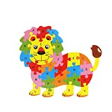 Lecimo Juguetes para BebéS, NiñAs Y NiñOs, 26 Alfabeto NiñOs Bebé Madera Rompecabezas Animal Puzzle Aprendizaje Temprano Juguetes Educativos para BebéS, 6#