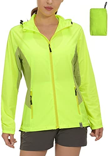 Mapamyumco Women's Sun Protection Lightweight Jacket for Golf Running Cycling,Breathable Hooded Hiking Clothing