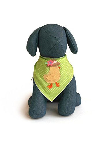 Tail Trends Easter Dog Bandanas with Easter Chick Design Fits Medium to Large Sized Dogs - 100% Cotton