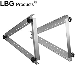 LBG Products Solar Panel Heavy Duty Mounting Rack Brackets with Adjustable and Foldable Tilt Legs,Roof, RV,Motorhome and Any Flat Surface Off Grid (22 inch Length)
