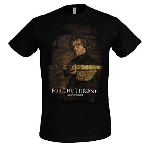 Game Of Thrones Camiseta Hombre de Juego de Tronos Tyrion Crossbow Killer Cotton Black - XXL