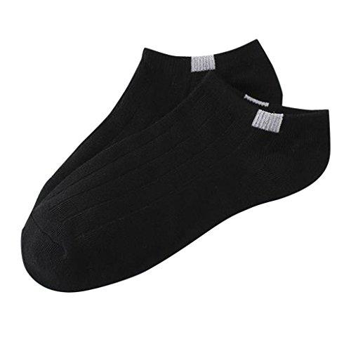 SHURROW 1 par de Calcetines Unisex de algodón a Rayas para Mujer, Tobillo Corto, Corte bajo, no-Show, Informal, Suave