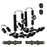 LEADRACKS Kayak Roof Rack for Canoe, Ski, SUP, Surfboard, Kayak Carrier, Foldable J-Bar 4 in 1 Bilateral Rooftop Mount Universal Transport Tool on Car, SUV and Truck Crossbar, 2 Piece