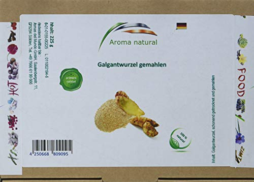 Aroma natural Galgantwurzel gemahlen 225 g, 1er Pack (1 x 225 g)