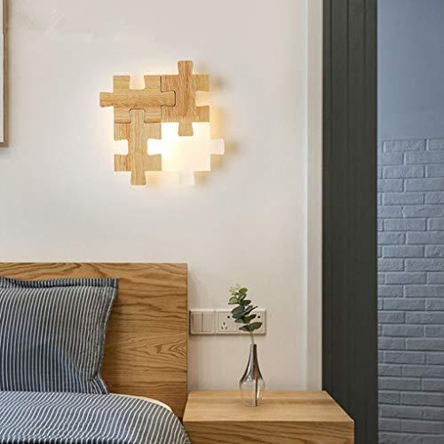Creativo Maderalámpara de pared Moderno LED Lámpara de noche Minimalismo Arte Pared de TV salón Cuarto Sala de estar Comedor Estudio Iluminación de pared Pantalla de acrílico 12W Luz de tres colores