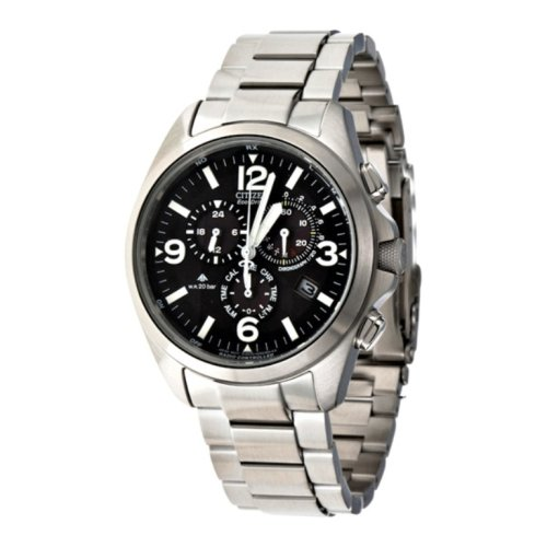 Citizen–AS4040–55E–Zeigt Herren–Quartz Chronograph Armband Stahl