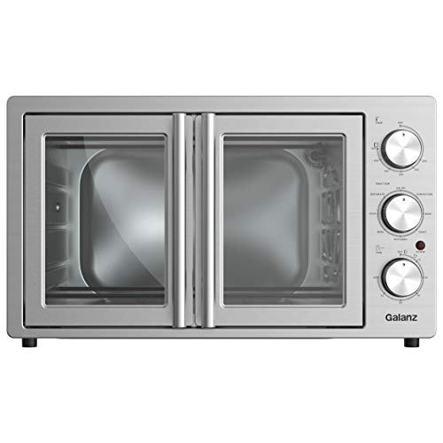 Galanz GFSK215S2MAQ18 TotalFry 360 (Enhanced Air Fry Technology) French Door Toaster Oven, 42L, Stainless Steel