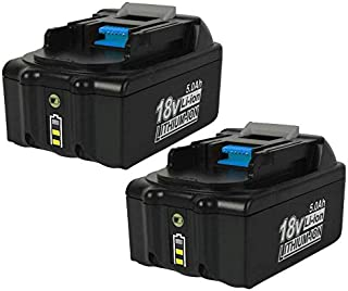 2Pack 5.0Ah for Makita 18V Battery LXT-400 BL1850 BL1830 BL1840 BL1850B BL1860 Replacement Makita Lithium 18-Volt Battery