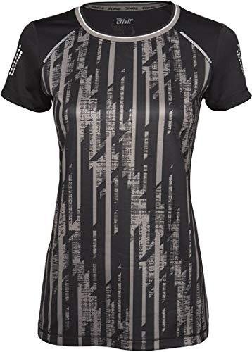 Crivit® Damen Fahrradshirt, Kurzarm (Gr. S 36/38, schwarz grau Gemustert)