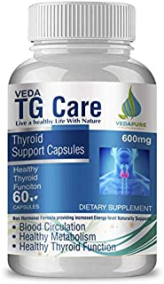 VedaPure Natural TG Care Thyroid Supplement for Men and Women's Health 60 Capsules