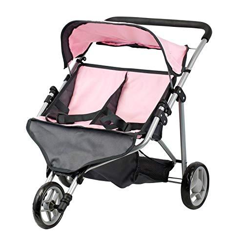 Doll Twin Buggy - Carro gemelar - Trider - Altura manilar: 55 cm - plegable