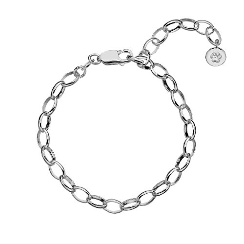 Molly Brown London Girls Sterling Silver Starter Charm Bracelet - Christening Jewellery & Birthday Gifts for Teens