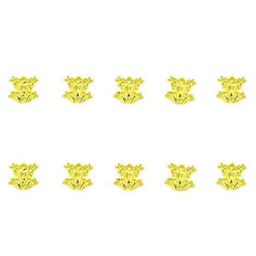 10 Pcs/Lot 3D 10mm * 10mm Nail Art Supplies Golden Beauty Frog Design Décorations Nail Art Métal