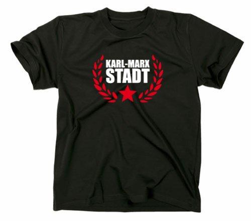 Karl Marx Stadt Chemnitz T-Shirt, Sachsen, schwarz, M