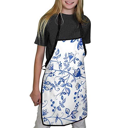 N/Een schorten Voor Kinderen Paars Tulp Parfum Schilderen Kinderen Schorten Kind Chef Schorten Voor Jongens En Meisjes Koken Schilderen Schorten In 2 Maten