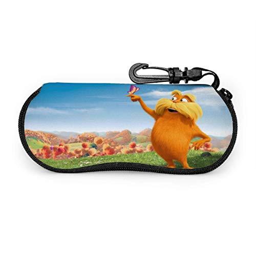 SDFGJ El estuche de anteojos de dibujos animados Lorax, estuche portátil para gafas de sol con cremallera de viaje, estuche para gafas, bolsa, protector, conjunto