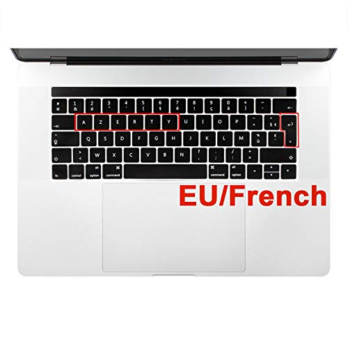 French AZERTY - Funda de silicona para teclado MacBook Pro Retina Air 11 12 13 15 Touch Bar 2020 A1932 A2289 A2159 A1706 A2251-Pro 13 CD ROM