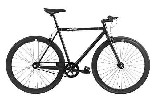 FabricBike - Original Collection, Hi-Ten Stahl, Fahrrad Fixed Gear, Single Speed, Urban Commuter, 8 Farben und 3 Größen, 10 Kg (Fully Matte Black, M-53cm)