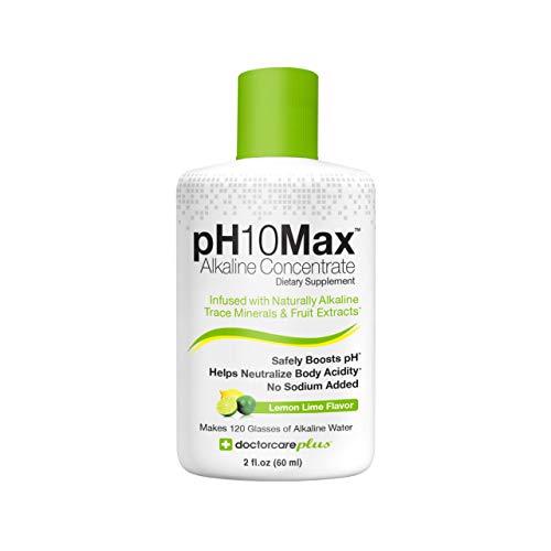 DoctorCare Plus pH Alkaline Water Drops, 2 Fl Oz, Lemon Lime Flavor
